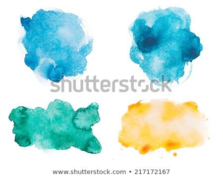 Colore acrilico fotogrammi carta mano design Foto d'archivio © gladiolus