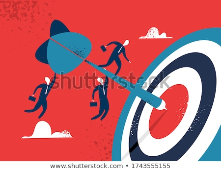 Sales Management - Arrows Hit in Red Target. Stock photo © tashatuvango