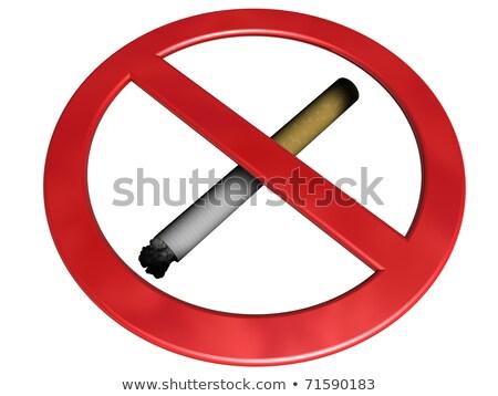 Dohányzás szokás cigaretta zárva üveg üveg Stock fotó © kalozzolak