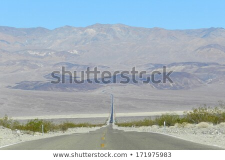 Long Desert Two Lane Highway Death Valley California Stock photo © cboswell