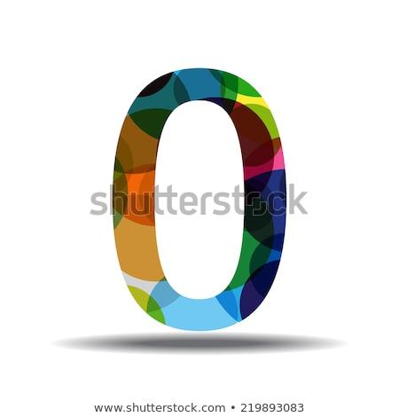 Stock photo: 0 Number Circular Vector Green Web Icon Button