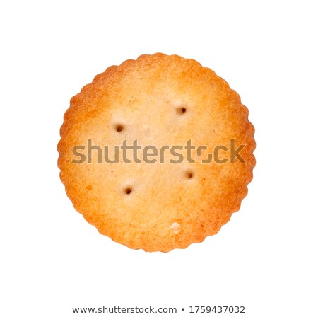 round and square salty crackers stock photo © klinker