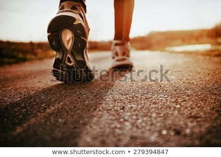 sétál · lábak · park · nő · erdő · sport - stock fotó © hasloo