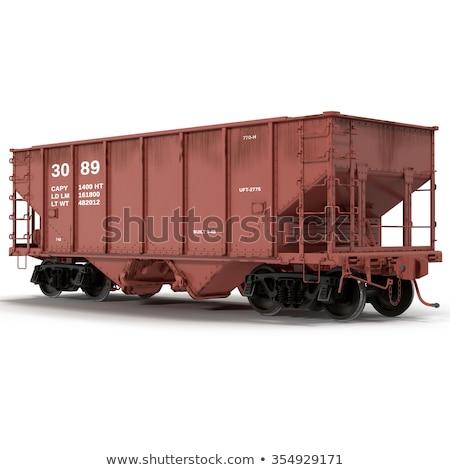 Vonat autók kikötő égbolt doboz kék Stock fotó © sarymsakov