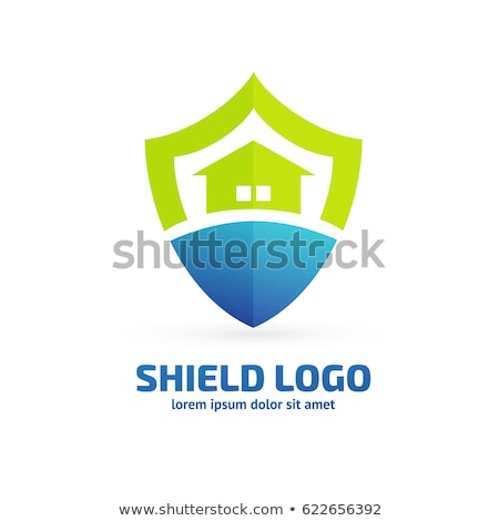 home security with shield logo design concepts stock photo © anna_leni