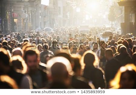 kalabalık · örnek · grup · insanlar · farklı · renkler · müzik - stok fotoğraf © Lom