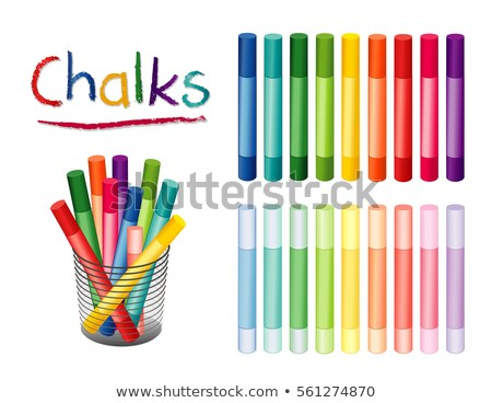 Gyűjtemény fényes színes kréta zsírkréták véletlenszerű Stock fotó © ozgur