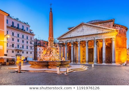pantheon with fountain in rome stock photo © vladacanon