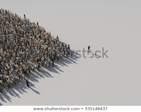 people crowd symbol stock photo © lightsource