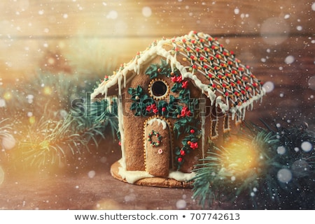 christmas house made from gingerbread stock photo © caimacanul
