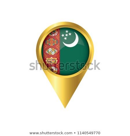 Narancs gomb kép térképek Türkmenisztán űrlap Stock fotó © mayboro