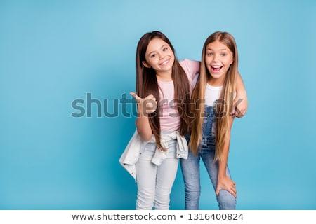 dois · meninas · isolado · branco · dançar - foto stock © konradbak