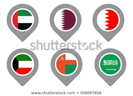 флаг Pin Катар изолированный белый Сток-фото © MikhailMishchenko