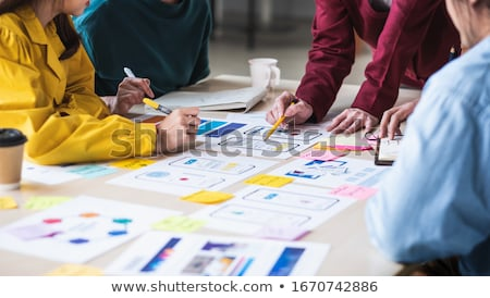 Closeup of colorful sticky notes at office Stock photo © wavebreak_media