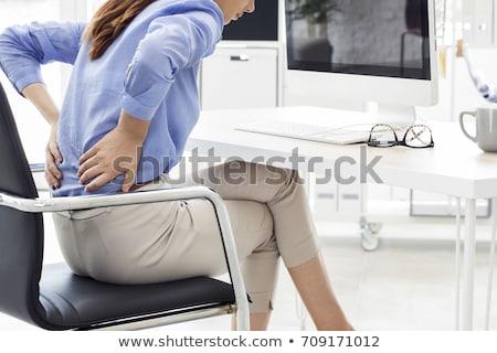 vrouw · pijn · Maakt · een · reservekopie · rijpe · vrouw · geïsoleerd - stockfoto © Nobilior
