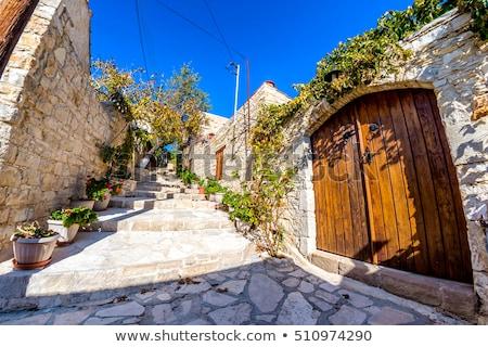 伝統的な 古い 通り 村 地区 キプロス ストックフォト © Kirill_M