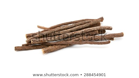 Mały lukrecja korzeń odizolowany biały Zdjęcia stock © sarahdoow