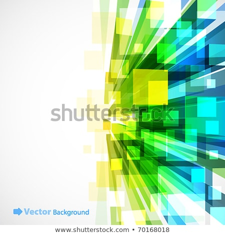 a green cubes abstract background, 3d Illustration stock photo © teerawit