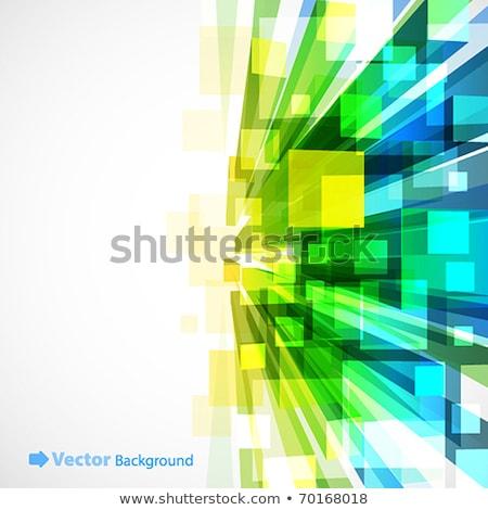 Verde cubos resumen 3d Foto stock © teerawit