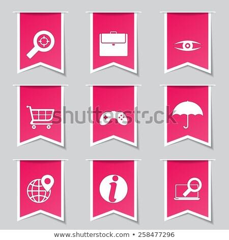 SEO Internet Sign Pink Vector Button Icon Design Set 10 Stock photo © rizwanali3d