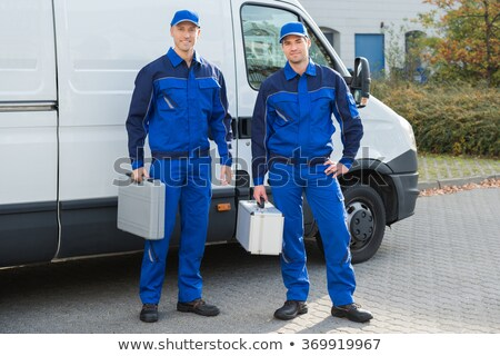 Portret toolbox witte man Stockfoto © wavebreak_media