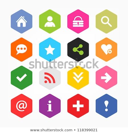 Warning Sign Pink Vector Button Icon Design Set Stock photo © rizwanali3d