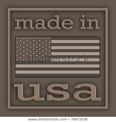metal sign with the inscription made in usa stock photo © zerbor