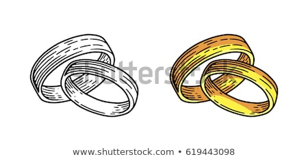doodle wedding ring stok fotoğraf © netkov1