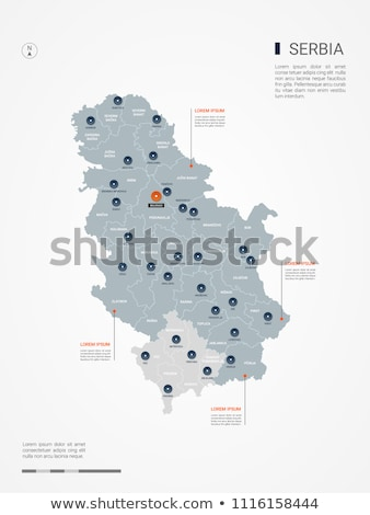 map of serbia subdivision city of belgrade stock photo © istanbul2009