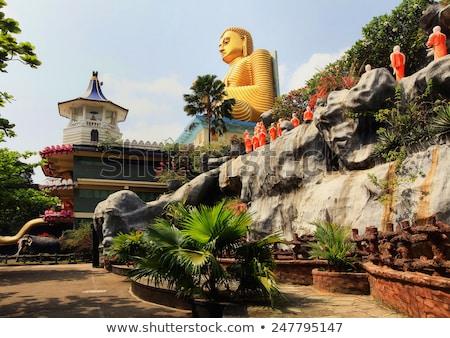 eski · budist · Sri · Lanka · şehir · bulutlar · taş - stok fotoğraf © mikko