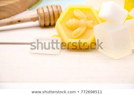 rácsok · szappan · fürdősó · törölköző · szépség · bár - stock fotó © saharosa