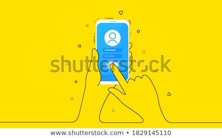 User Yellow Vector Icon Button Stock photo © rizwanali3d