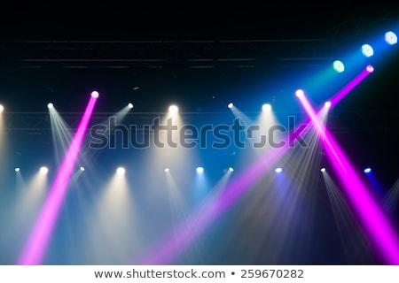 青 · ステージ · 光 · コンサート · ランプ · 黒 - ストックフォト © mikko