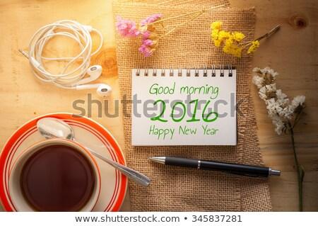 2016 written on a notepad Stock photo © Zerbor