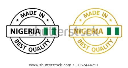 ナイジェリア 国 フラグ 地図 文字 ストックフォト © tony4urban