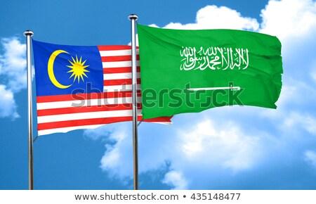 Szaúd-Arábia Malajzia zászlók puzzle izolált fehér Stock fotó © Istanbul2009