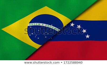 Brazília Venezuela zászlók puzzle izolált fehér Stock fotó © Istanbul2009
