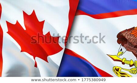 Kanada Samoa bayraklar bilmece yalıtılmış beyaz Stok fotoğraf © Istanbul2009