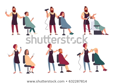 Boy cut in  hairdressing salon Stock photo © Paha_L