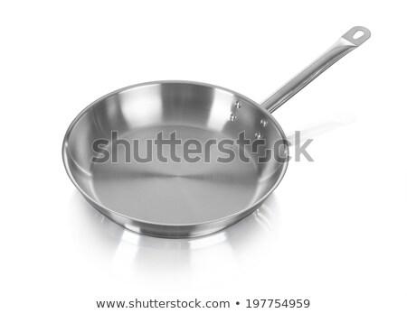 Large metal frying pan Stock photo © ozaiachin