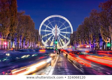 ışık iz feribot tekerlek gece arka plan Stok fotoğraf © Paha_L
