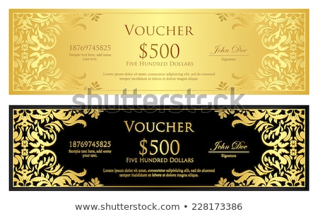 Exclusive golden background with damask floral pattern Stock photo © liliwhite