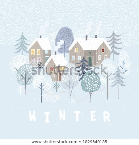 Natale · inverno · foresta · cervo · albero · neve - foto d'archivio © beaubelle
