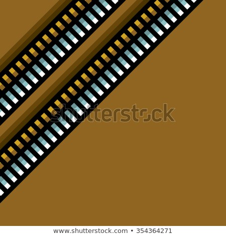 steel techno tubes pattern with an orange backlight  Stock photo © Melvin07
