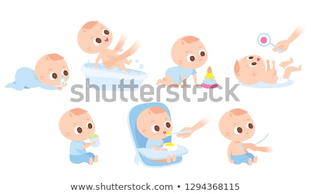 newborn baby with soother Stock photo © Mikko