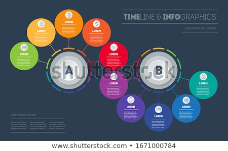 Vector abstract circles infographic network template Stock photo © orson