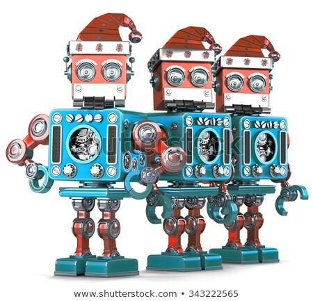 grupo · robot · mecánica · tecnología · negocios - foto stock © kirill_m