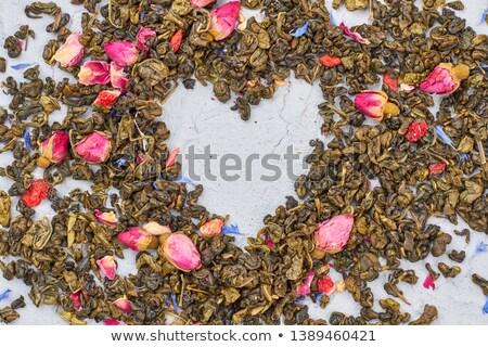 Secas rosa coração topo ver isolado Foto stock © Elisanth