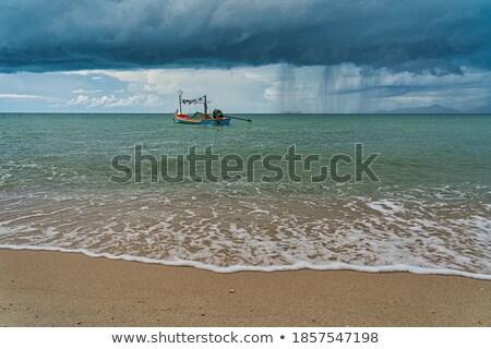 Güzel dalgalar harmonik model sabah Stok fotoğraf © meinzahn