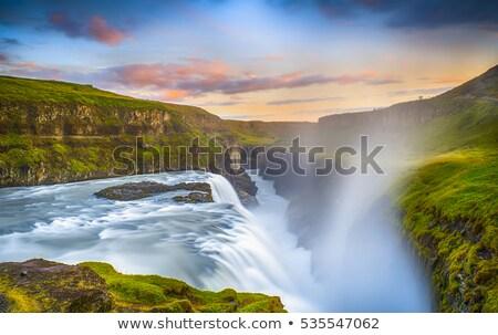 アイスランド · 水 · 自然 · 氷 · 滝 · 電源 - ストックフォト © TanArt